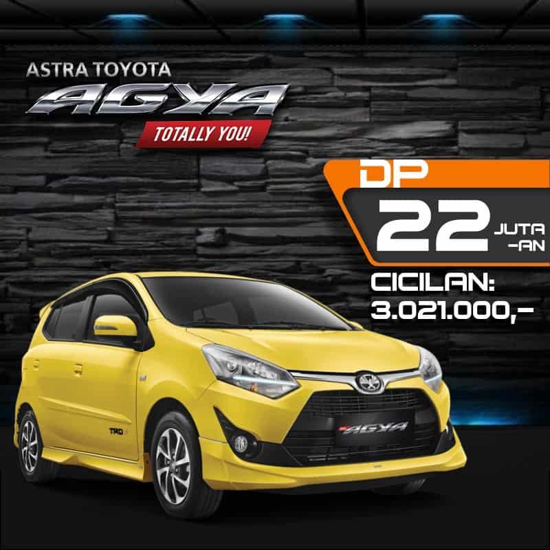 Harga Kredit Toyota Agya 2020 di Bandung