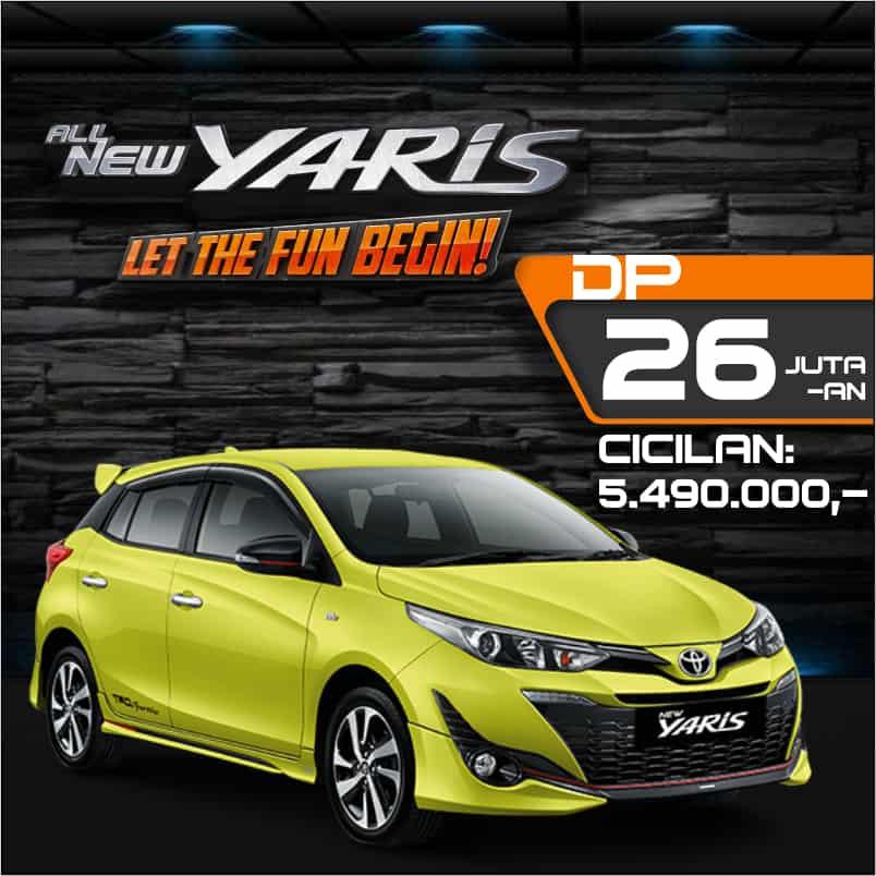 Harga Kredit Toyota Yaris Oktober 2018 di Bandung